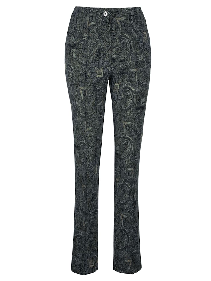 Trousers with a paisley print