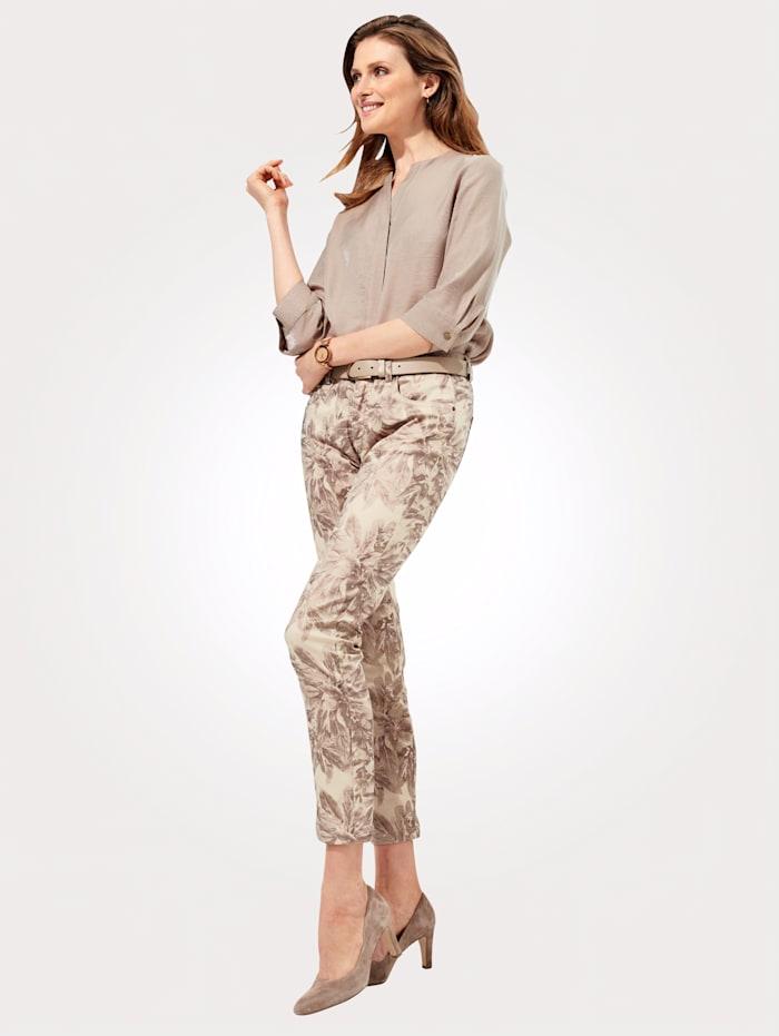 Pantalon à imprimé floral brillant
