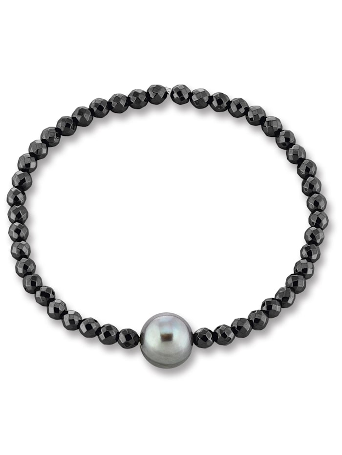 One Element Damen Schmuck Armband aus 925 Silber Hämatit, silber