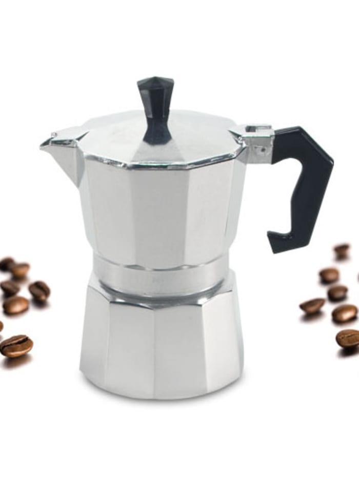 Krüger Alu Espressokocher eckig 6 Tassen, Alu