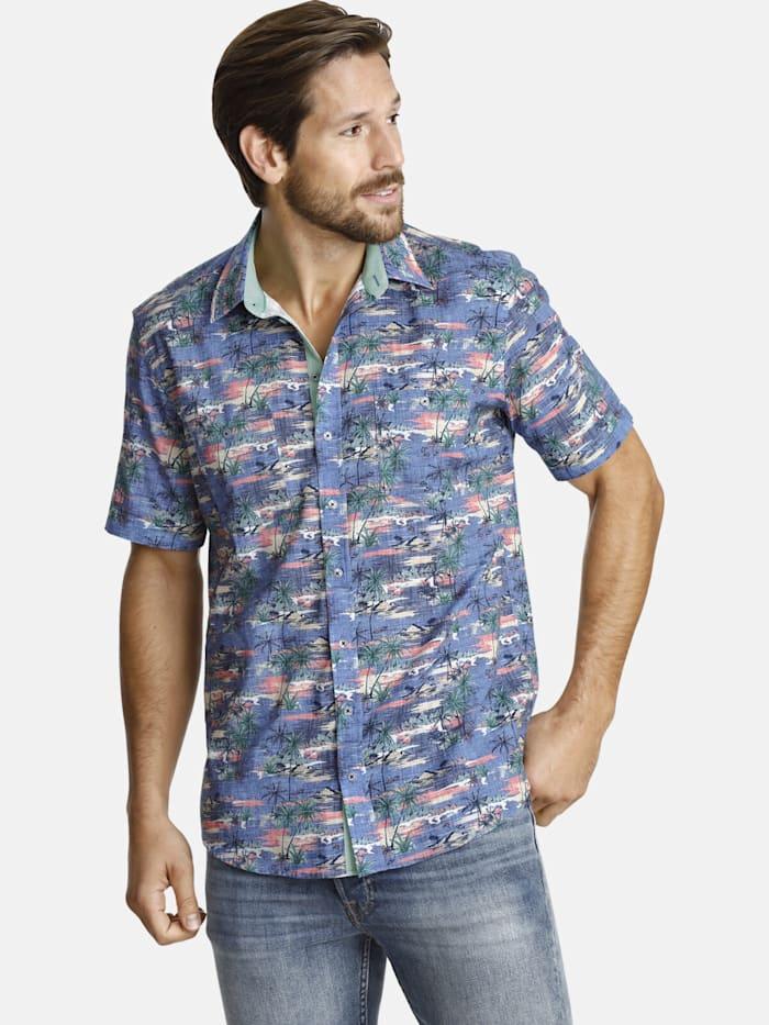 Shirtmaster Shirtmaster Kurzarmhemd attheoasis, blau
