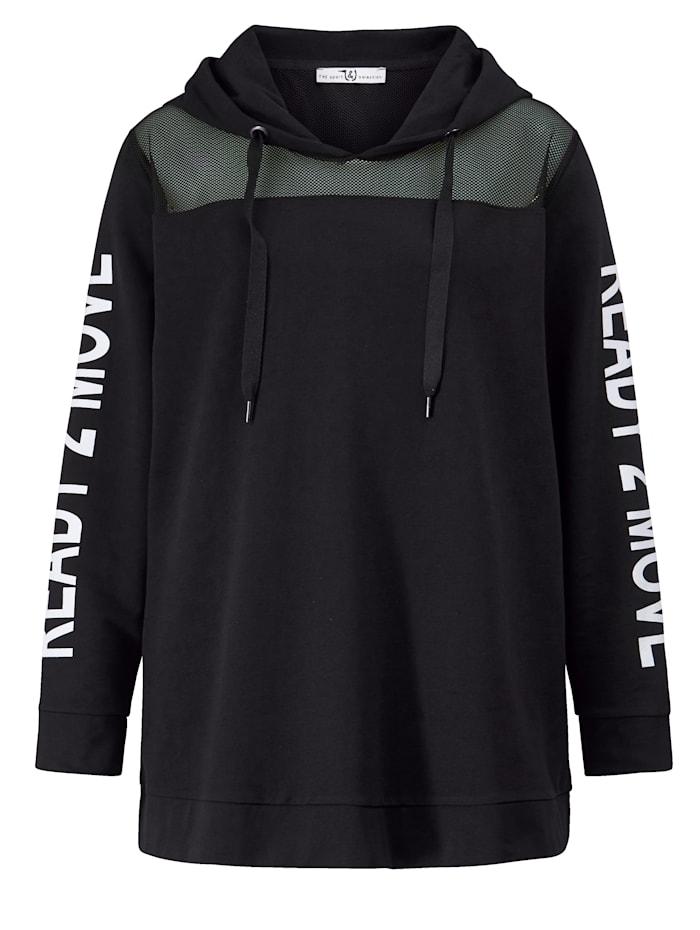 Sweatshirt met inzet van mesh op de schouders