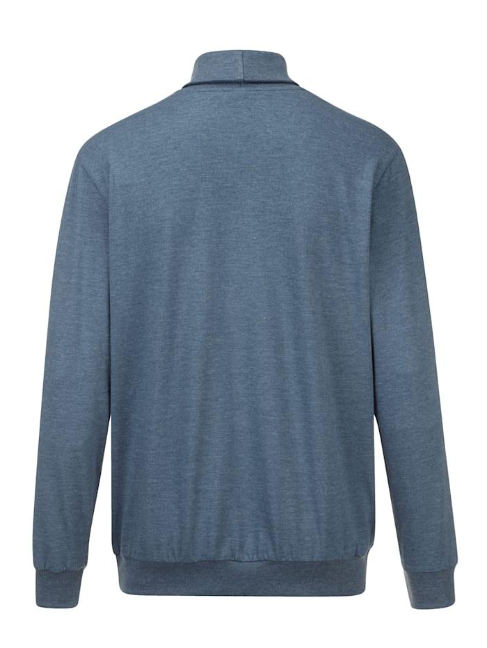 T-shirt à col roulé En single jersey, matière douce à la peau