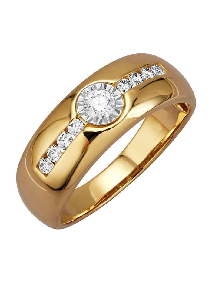 Amara Diamants Bague avec brillants, Coloris or jaune