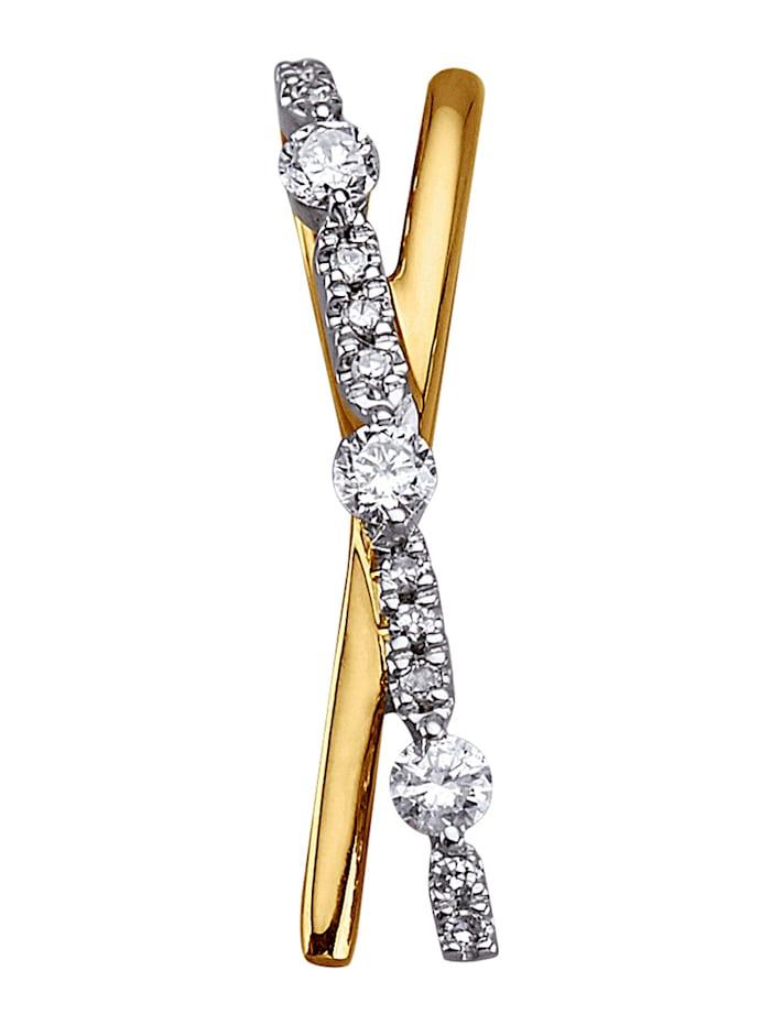 AMY VERMONT Hanger met diamanten, Geelgoudkleur