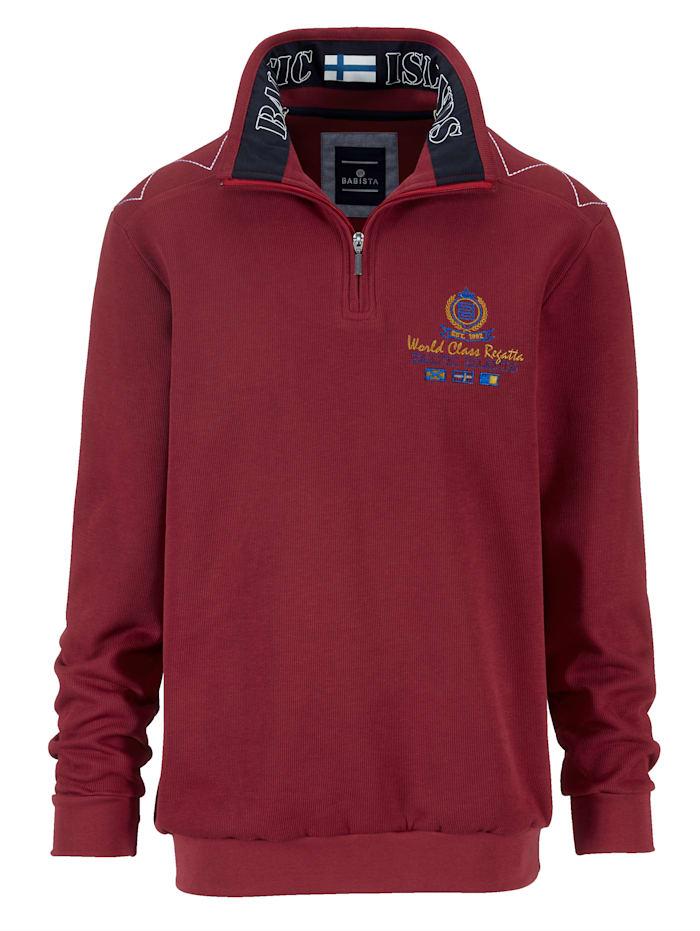 BABISTA Sweatshirt met luxueuze details, Rood