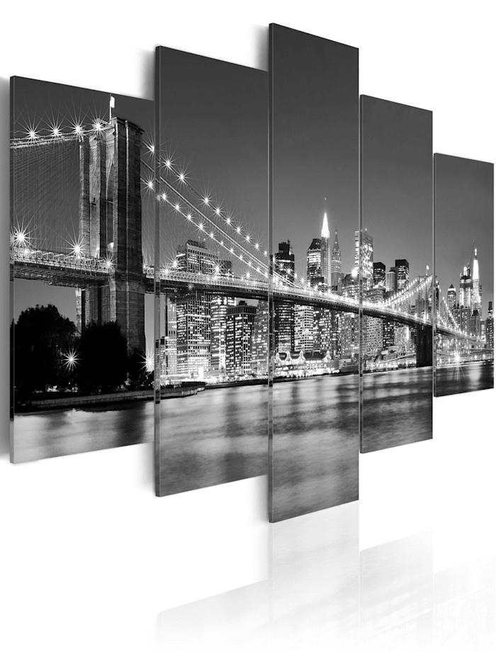 artgeist Wandbild Träume über New York, schwarz-weiß