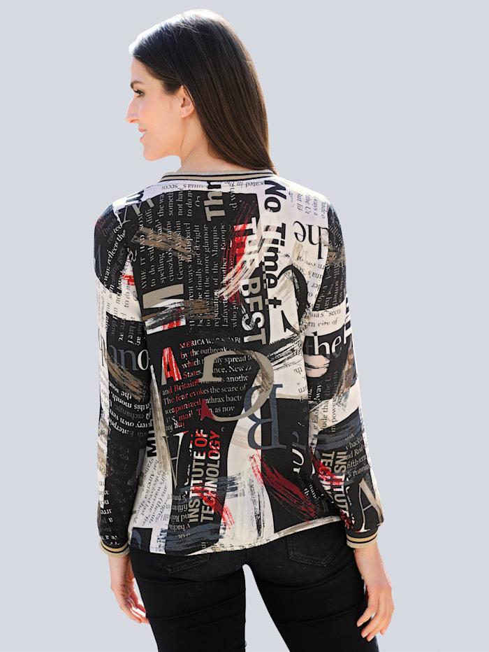 Bluse mit abstraktem Allover-Print