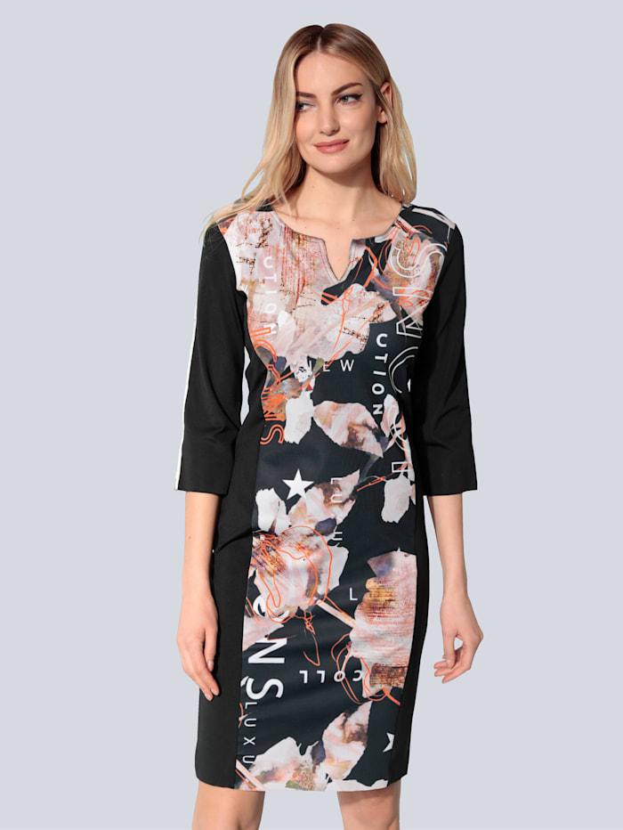 SPORTALM Kleid mit offenen Kanten, Schwarz