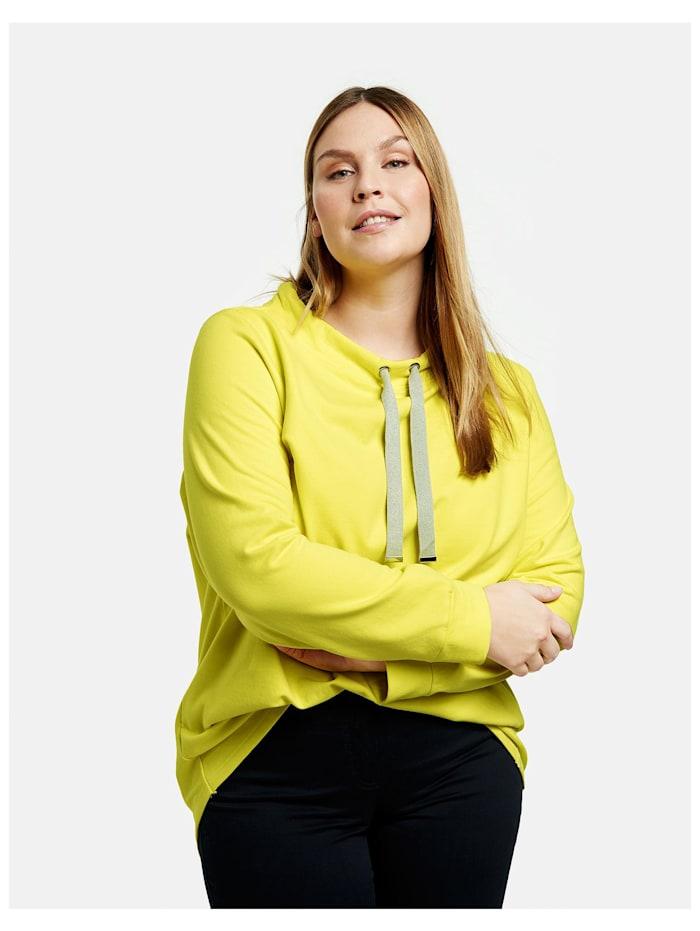 Samoon Sweatshirt mit Tunnelband, Blazing Yellow