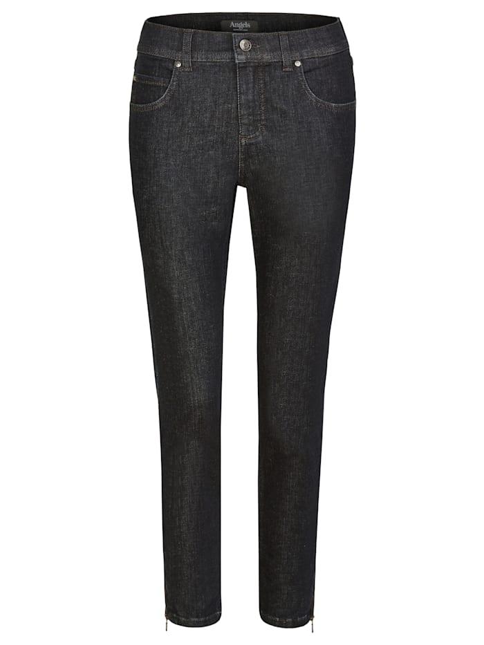 Jeans 'Ornella Zip' mit Beinzipper