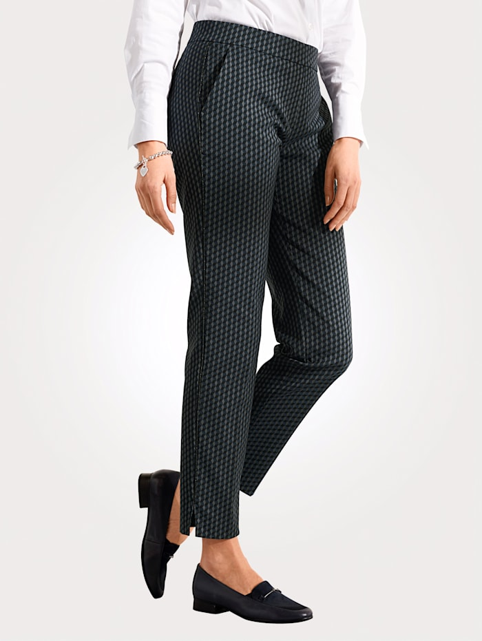 Toni Pull-on trousers, Navy/Grey