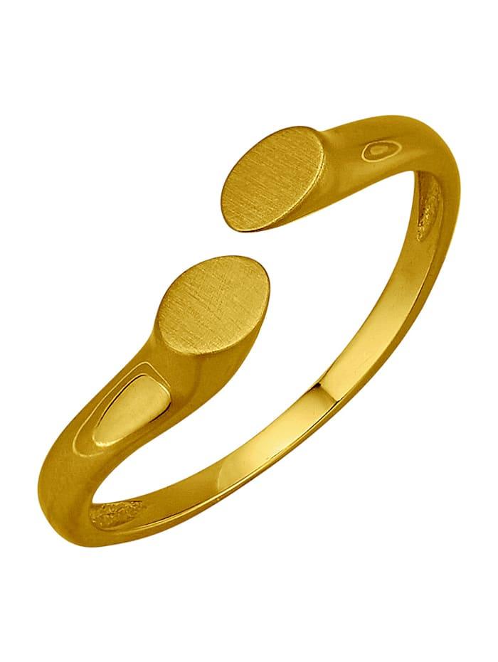 Damenring in Gelbgold 375, Gelbgoldfarben