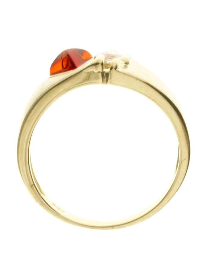 Ring - Benita - Gold 585/000 - Bernstein/Brillant