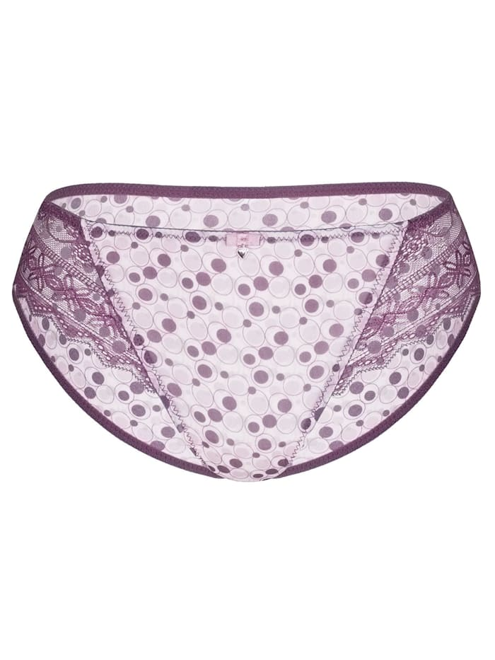Damen Slip Purple Circles