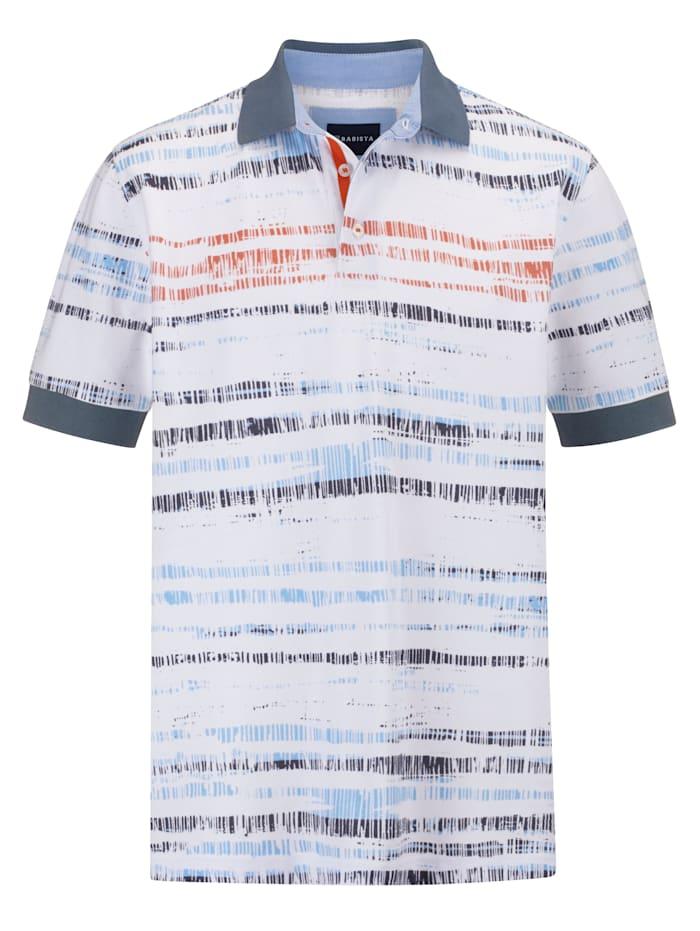 BABISTA Poloshirt met modieuze print, Wit/Blauw/Oranje