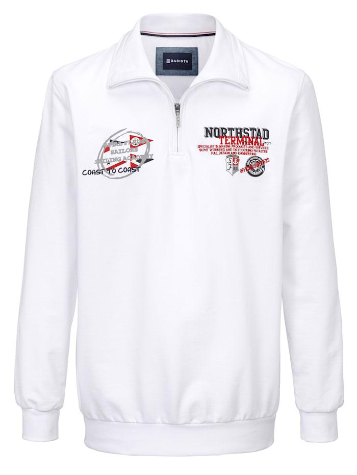 BABISTA Sweatshirt van zuiver katoen, Wit