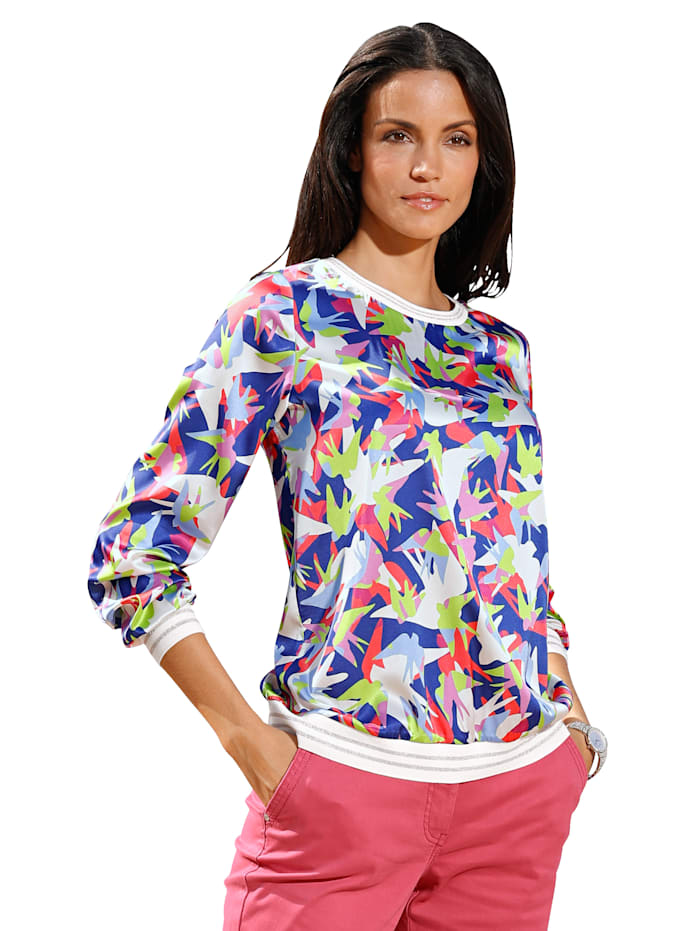 AMY VERMONT Bluse im Allover-Druck, Multicolor