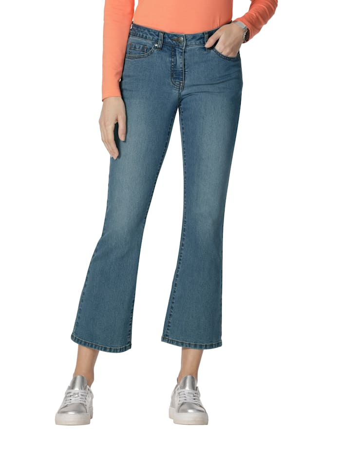 AMY VERMONT Jeans in 5-Pocket-Form, Blue bleached