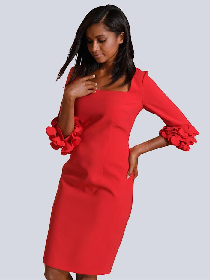 Alba Moda Kleid mit eleganten Details an den Ärmeln, Koralle