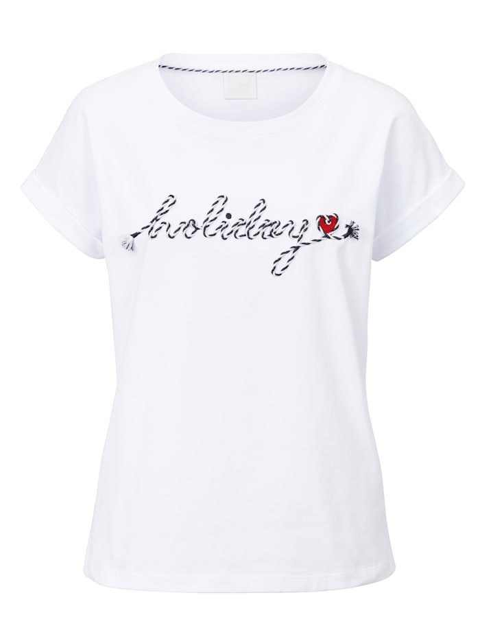 REKEN MAAR Shirt, Weiß