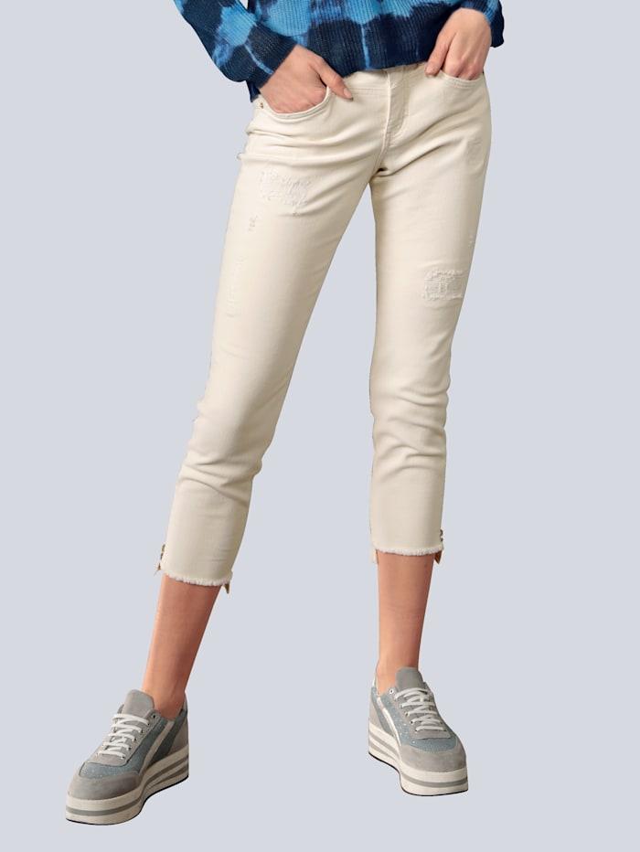 MAC Jeans mit modischen Details, Weiß