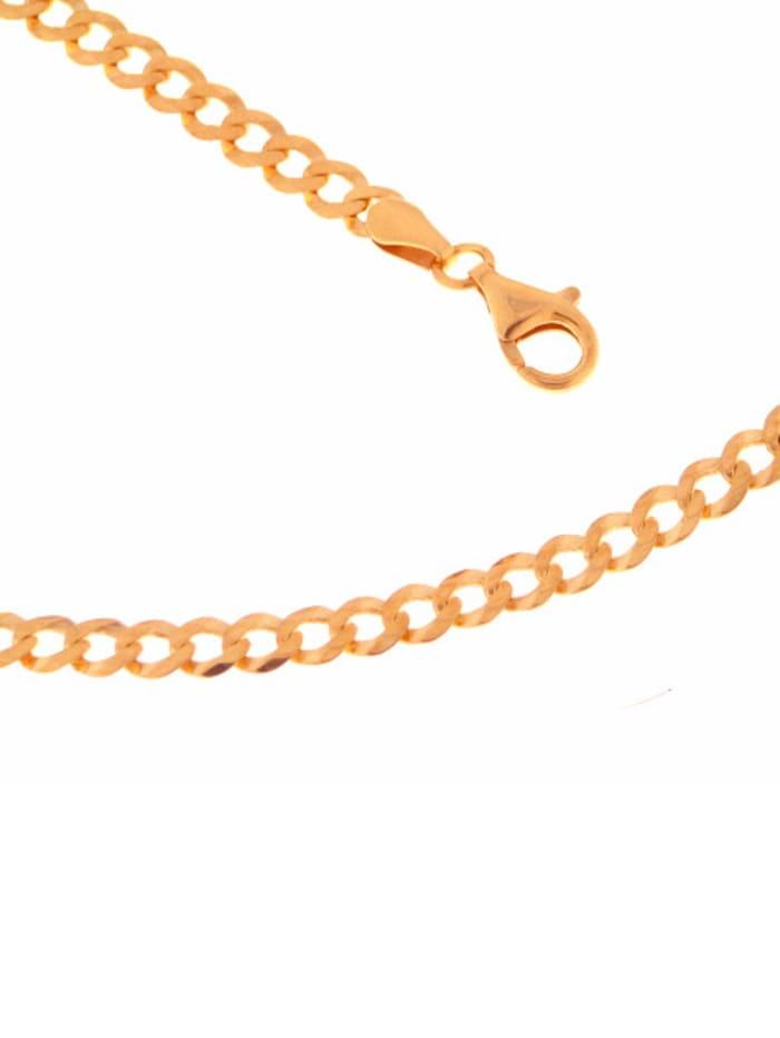 Grazielli Panzerarmband in Silber 925 rosé vergoldet, Rosé