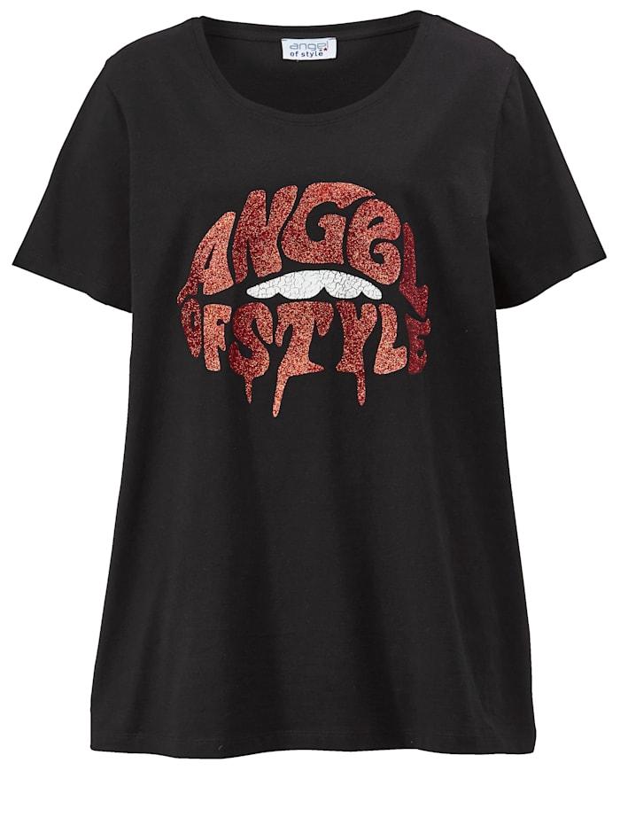 Shirt mit Glitzer-Frontprint