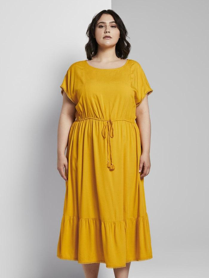 MY TRUE ME by Tom Tailor Sommerliches Kleid mit Häkel-Details, deep golden yellow