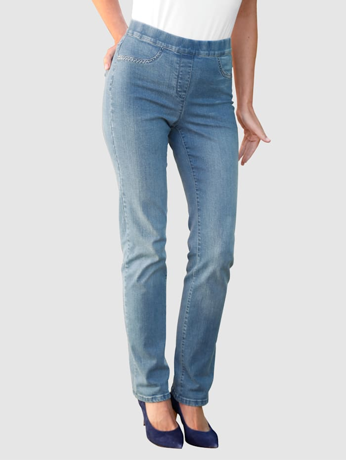 Paola Jeans Lotta Straight, Blue bleached