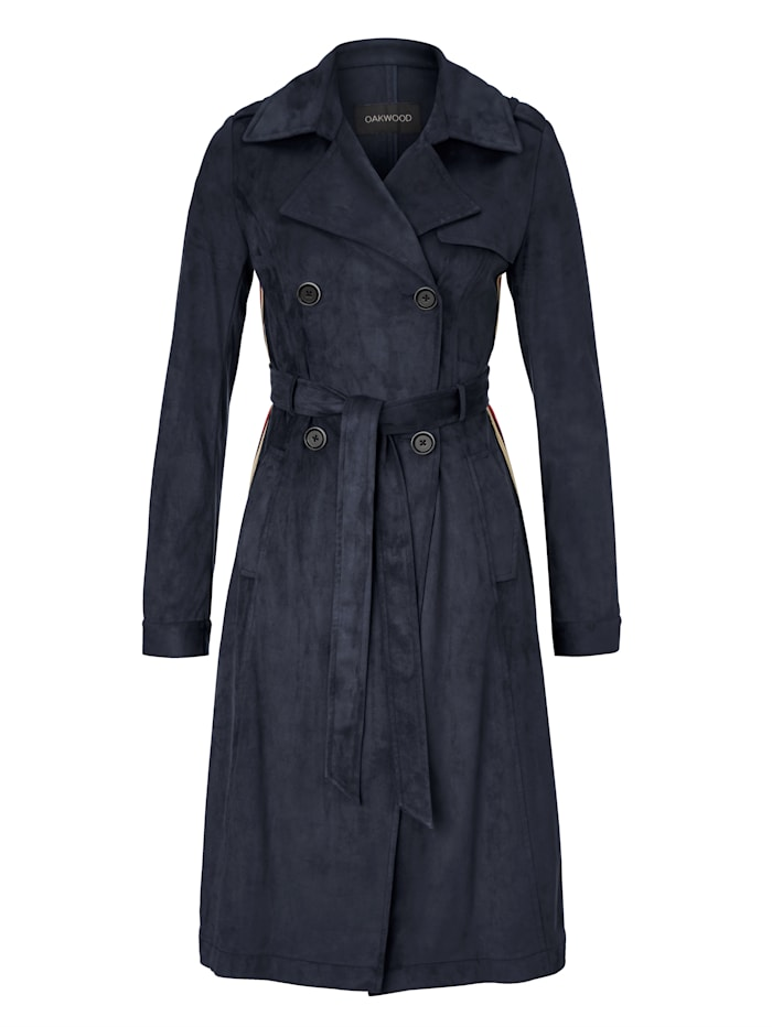 OAKWOOD Trenchcoat, Blau