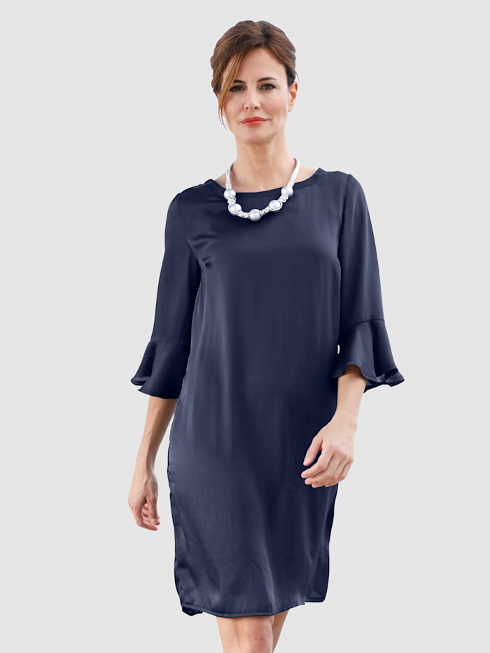 Laura Kent Kleid in schimmernder Qualität, Marineblau