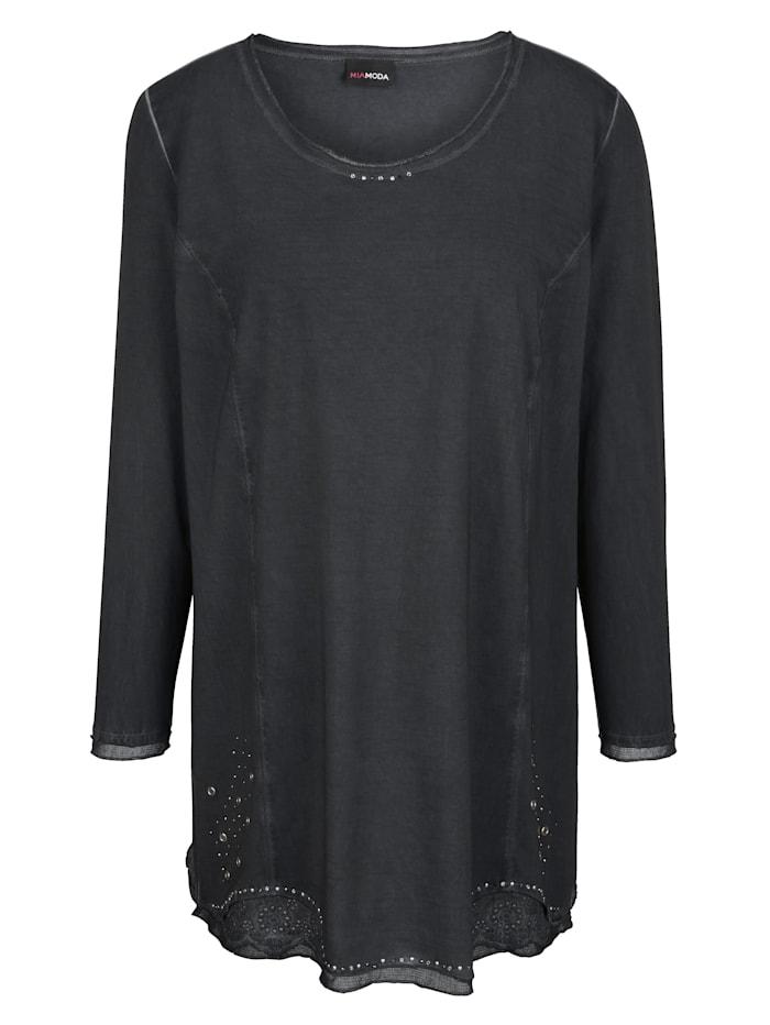 Longshirt in oil dyed look