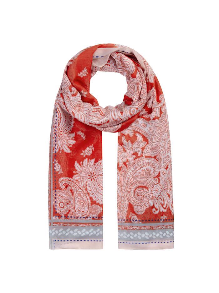 Codello Ultrasofter Paisley-Schal aus edler Viskose, red