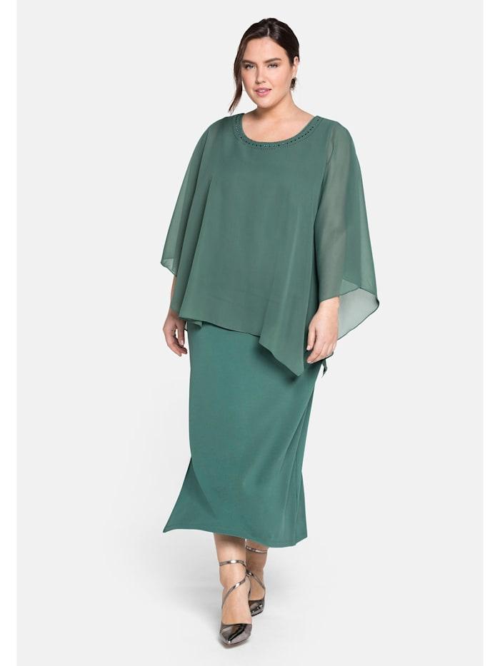 Sheego Sheego Abendkleid im Lagenlook, opalgrün