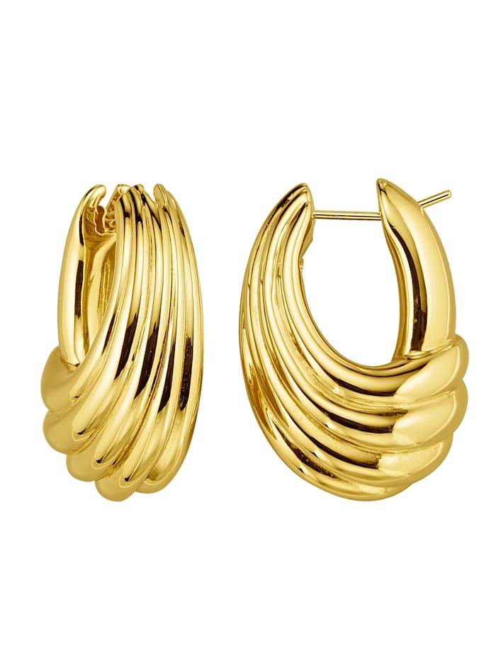 Diemer Gold Creolen in Gelbgold 750, Gelbgoldfarben