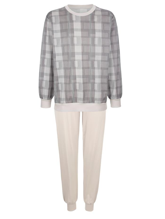 BABISTA Schlafanzug aus merzerisierter Baumwolle, Grau