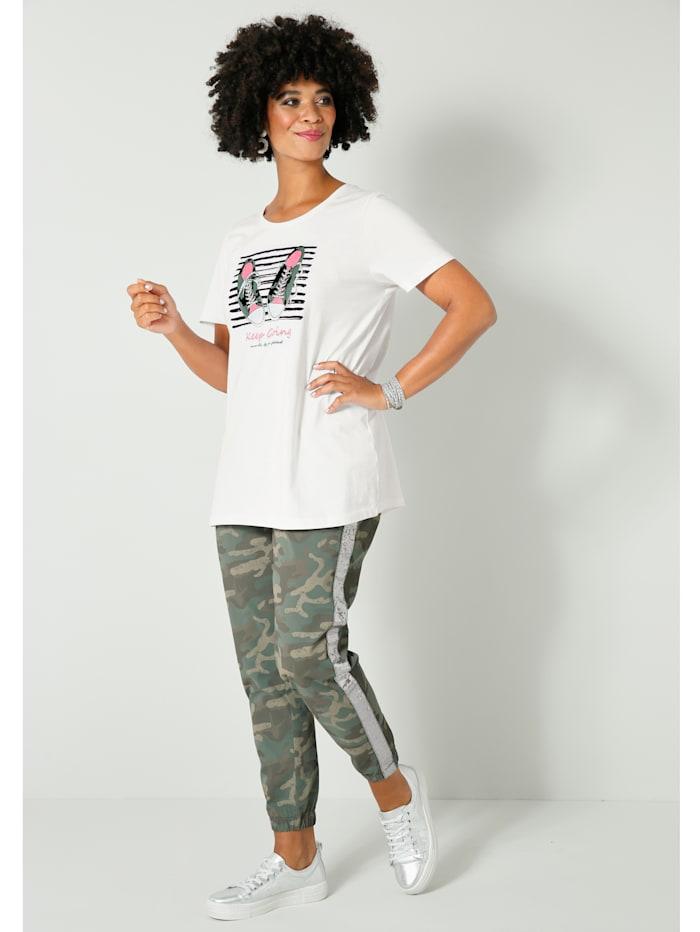 Shirt mit modischem Druckmotiv vorne