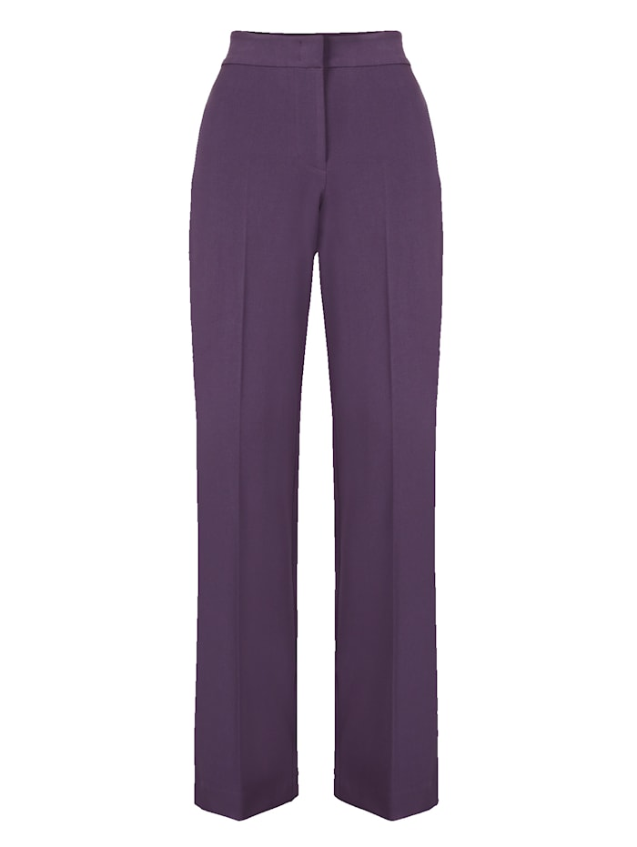 Artigiano Ultimate classic leg trousers with slimming effect, Berry