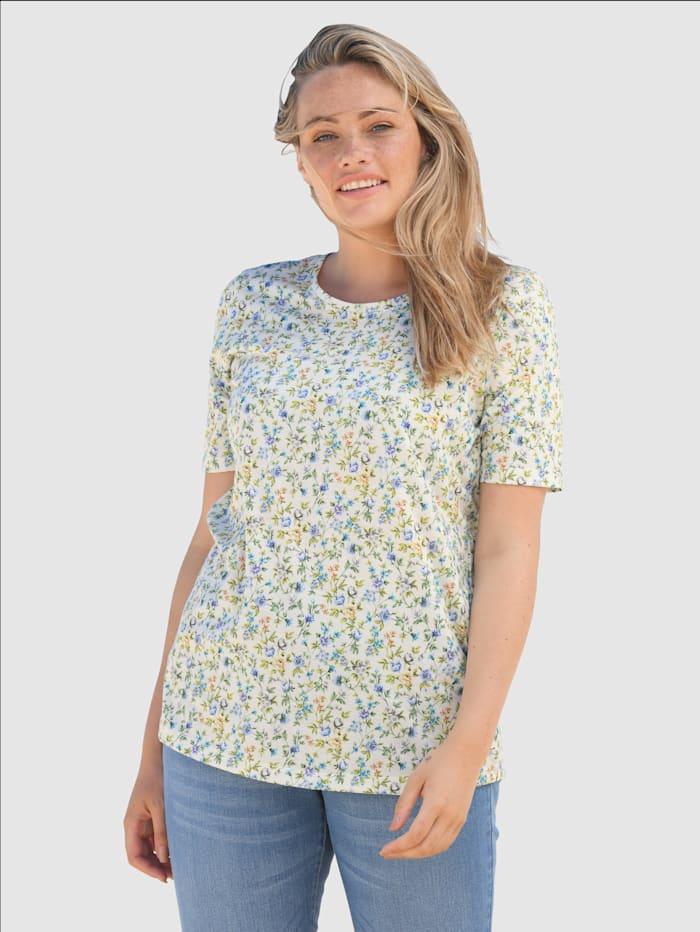 basically you Shirt mit floralem Design, Grün