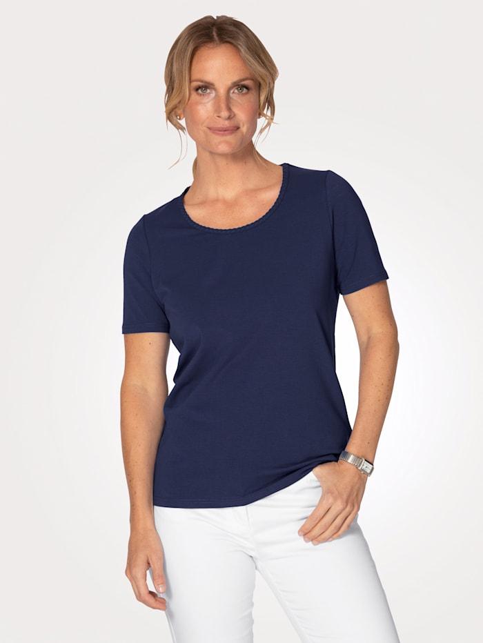 MONA T-shirt en coton pima, Marine
