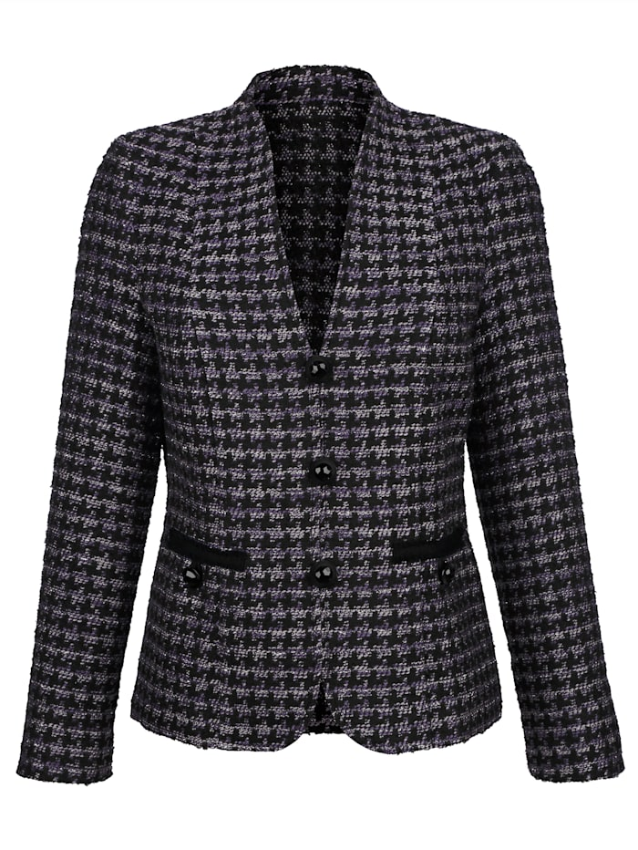 Blazer with shimmering thread