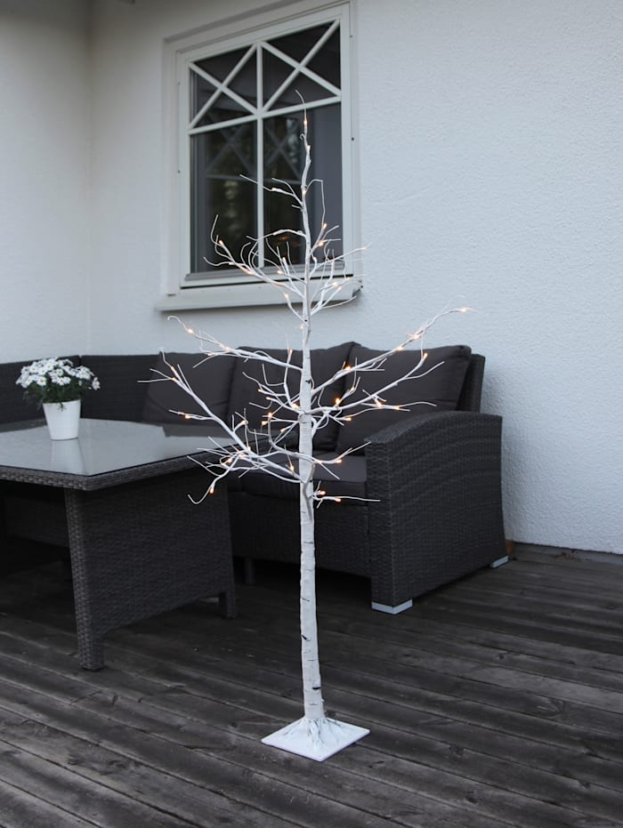 LED-Birkenbaum mit Standfuß