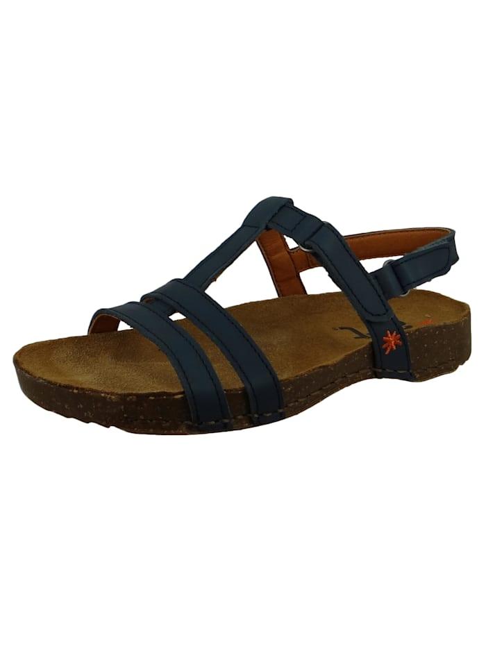 0946 I Breathe Damen Leder Sandale Jeans Blau