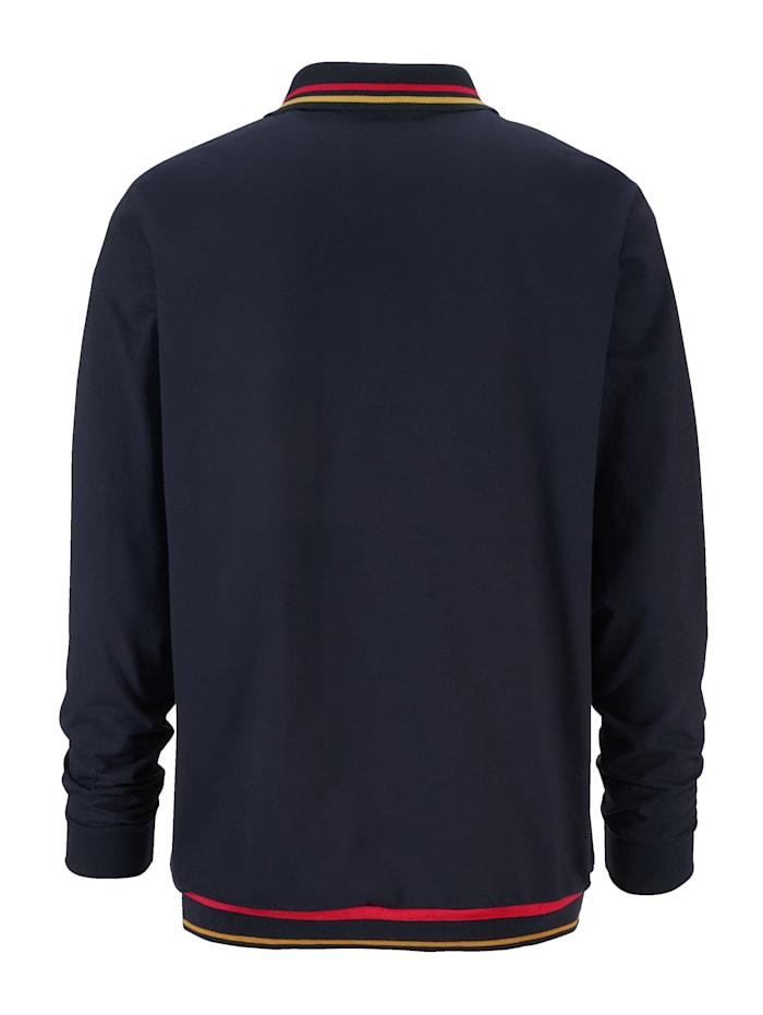Poloshirt met gekleurde contraststrepen