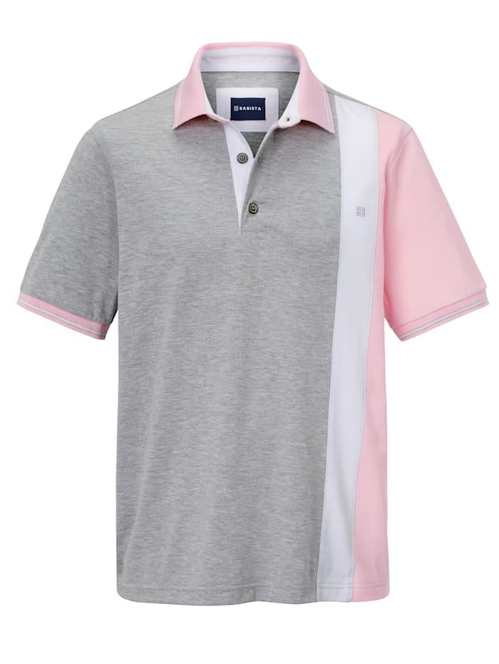 Poloshirt met contrastkleurige inzetten voor