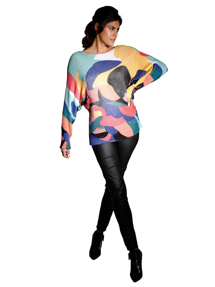 Pullover mit bunten Farbflächen