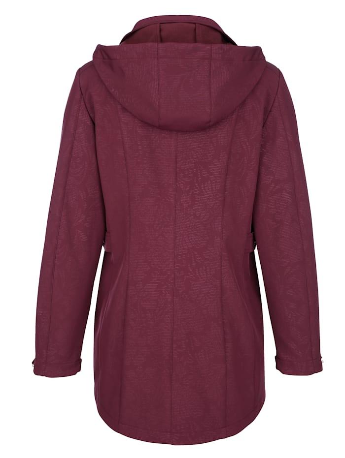 Softshell jas met fleece aan de binnenkant