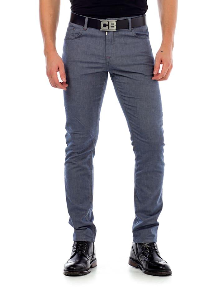 Cipo & Baxx Stoffhose im modischen Slim Fit-Schnitt, Blue
