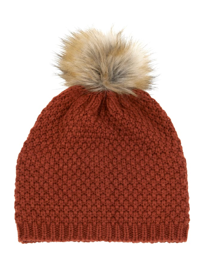 MONA Knitted hat, Terracotta